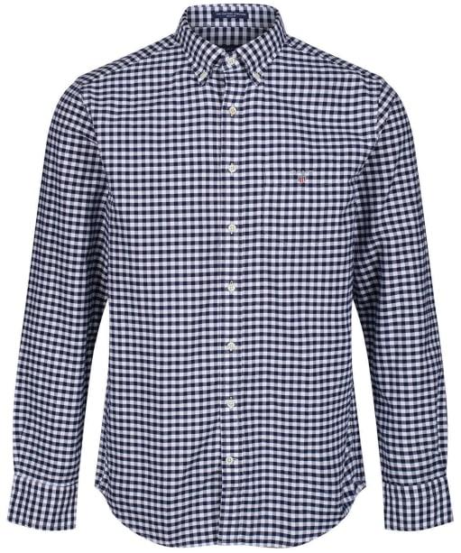 Men's GANT Oxford Gingham Shirt - Persian Blue