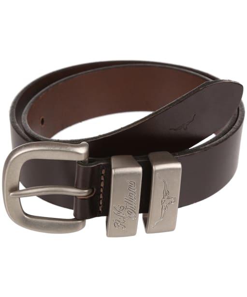 Men's R.M. Williams Solid Hide Belt - Chestnut