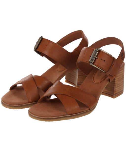 Women's Timberland Tallulah May Crossband Sandals - Rust Nubuck