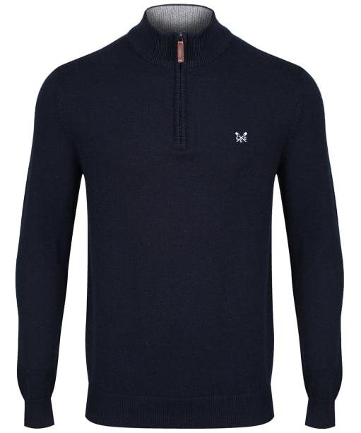 Men's Crew Clothing Classic Half Zip Sweater - Navy