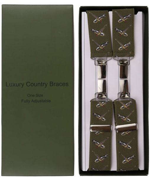 Men's Soprano Flying Pheasant Braces - Green
