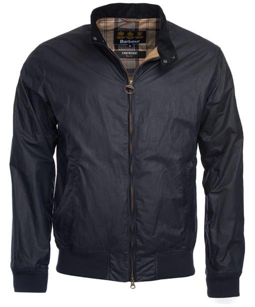 Men's Barbour Lightweight Royston Waxed Jacket - Royal Navy