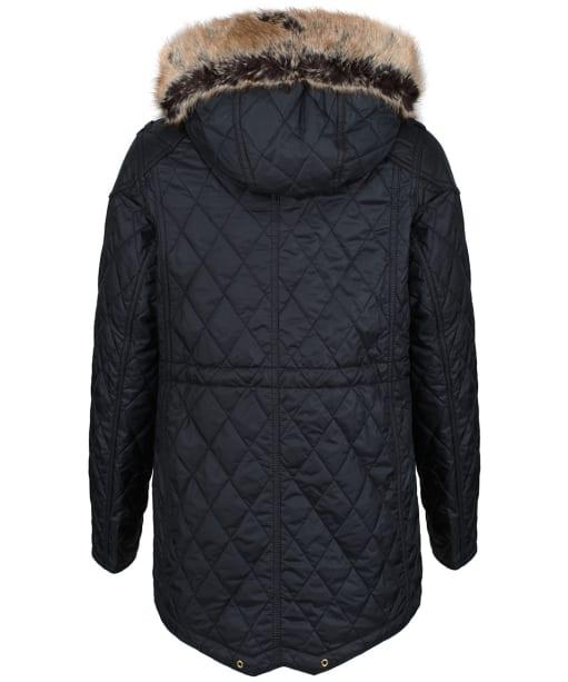 Girl's Barbour International Enduro Quilted Jacket, 2-15yrs - Black
