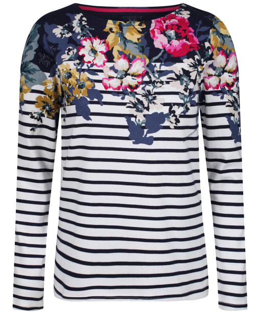 Women's Joules Harbour Print Top - Anniversary Border Floral