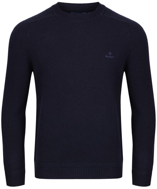 Men's GANT Shetland Crew Neck Sweater - Evening Blue