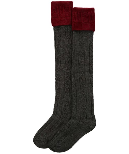 Men's Pennine Defender Shooting Socks - Cherry