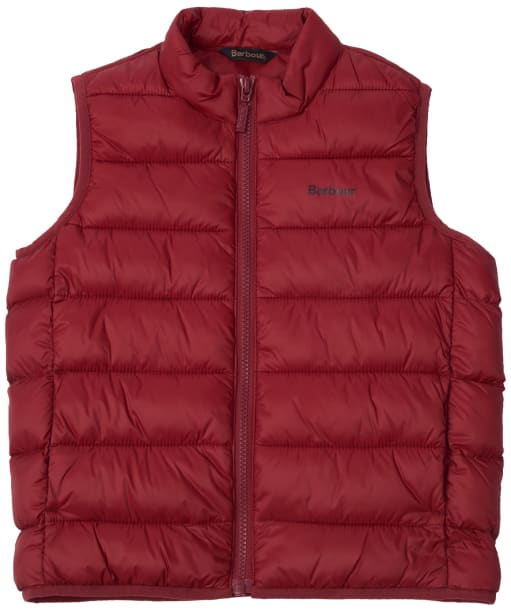 Boy's Barbour Bretby Gilet, 2-9yrs - Biking Red