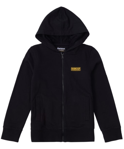 Boy's Barbour International Essential Hoody, 10-15yrs - Black