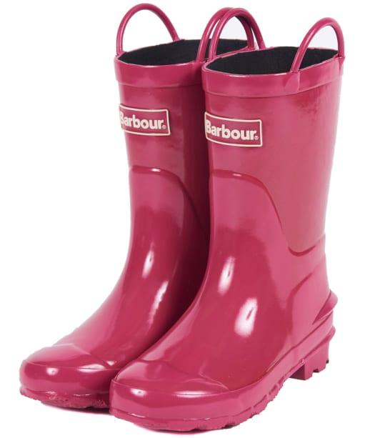 Barbour Kids Durham Wellingtons - Berry Pink