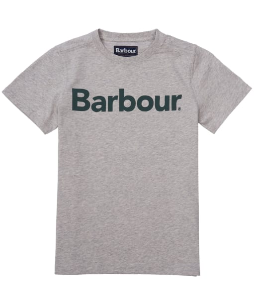 Boy's Barbour Logo Tee, 10-15yrs - Grey Marl
