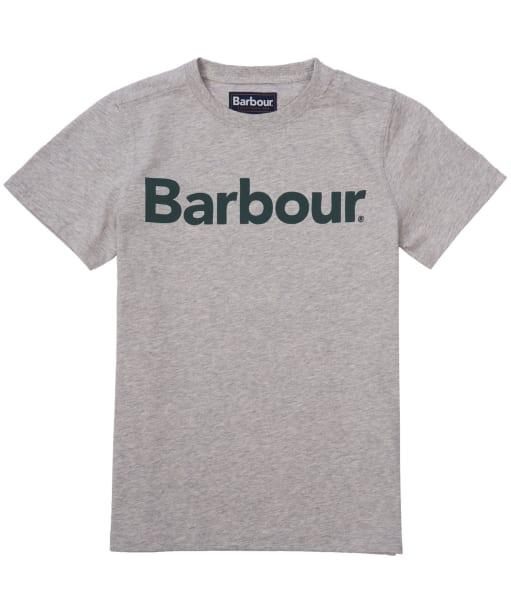 Boy's Barbour Logo Tee, 2-9yrs - Grey Marl