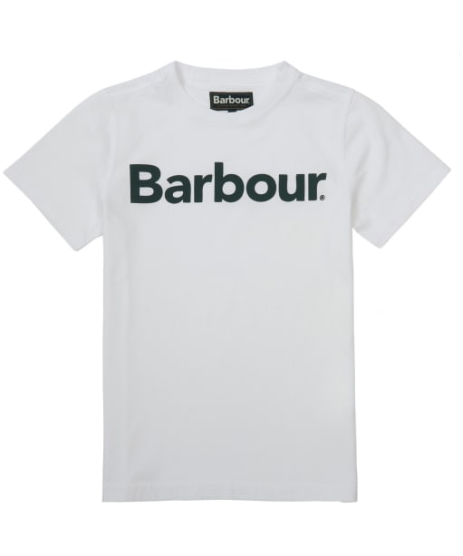 Boy's Barbour Logo Tee, 2-9yrs - White
