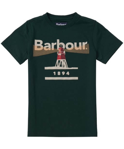 Boy's Barbour Lighthouse Tee, 2-9yrs - Seaweed