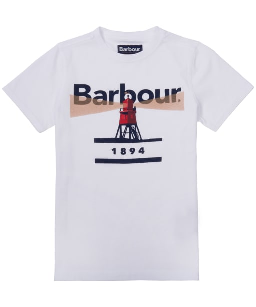 Boy's Barbour Lighthouse Tee, 2-9yrs - White