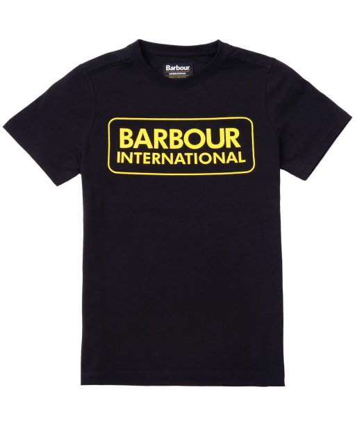 Boy's Barbour International Essential Large Logo Tee, 10-15yrs - Black