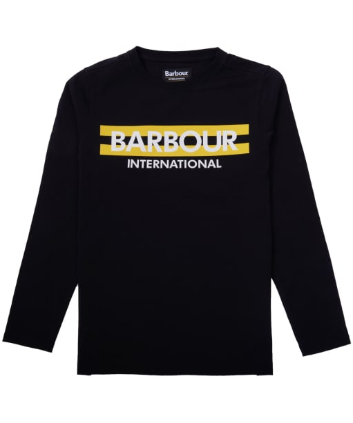 Boy's Barbour International Starter Tee, 2-9yrs - Black
