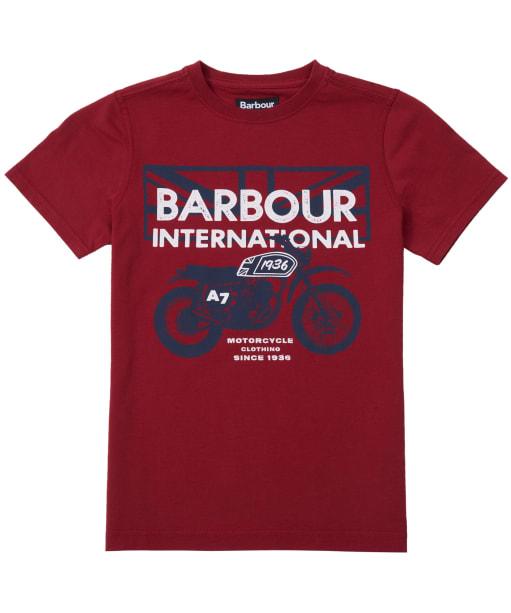 Boy's Barbour International Spark Tee, 2-9yrs - Biking Red