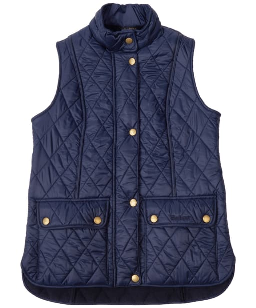 Girl's Barbour Wray Quilted Gilet, 2-9yrs - Navy