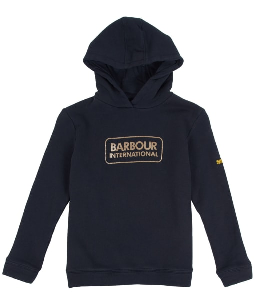 Girl's Barbour International Bowden Hoody, 10-15yrs - Black