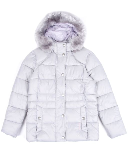 Girl's Barbour Ullswater Quilted Jacket, 10-15yrs - Ice White