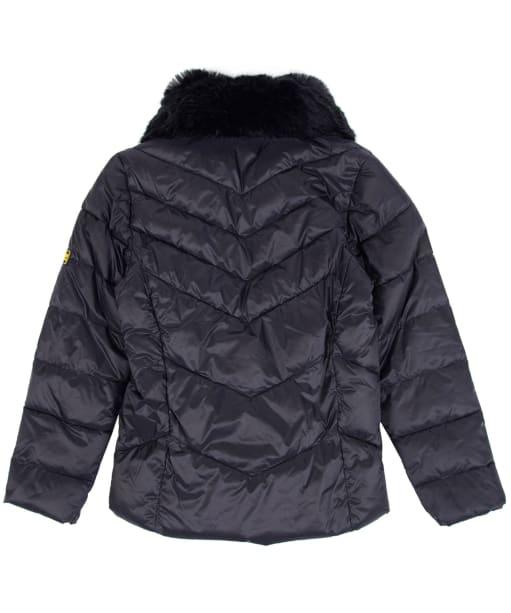Girl's Barbour International Nurburg Quilted Jacket, 2-9yrs - Black