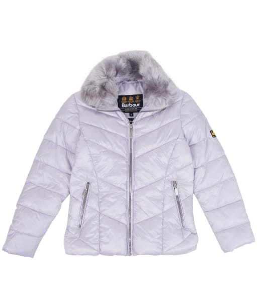 Girl's Barbour International Nurburg Quilted Jacket, 10-15yrs - Haze