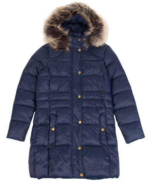 Girl's Barbour Caldbeck Quilted Jacket, 10-15yrs - Navy