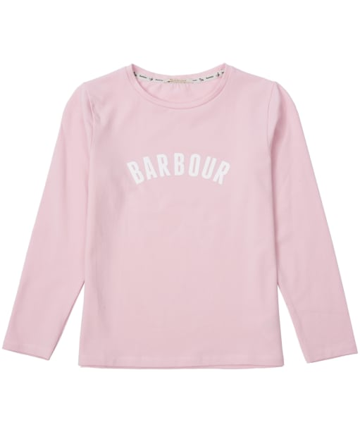 Girl's Barbour Clair Tee, 6-9yrs - Rose