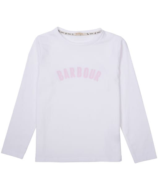 Girl's Barbour Clair Tee, 6-9yrs - White