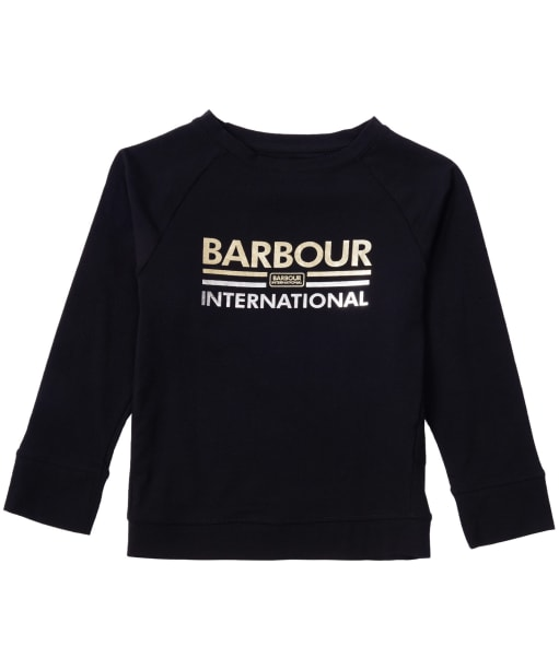 Girl's Barbour International Bowden Tee, 10-15yrs - Black