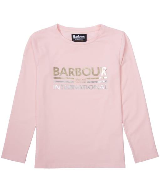 Girl's Barbour International Bowden Tee, 2-9yrs - Rose