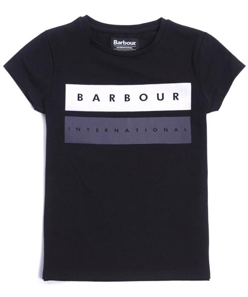 Girl's Barbour International Garrow Tee, 10-15yrs - Black