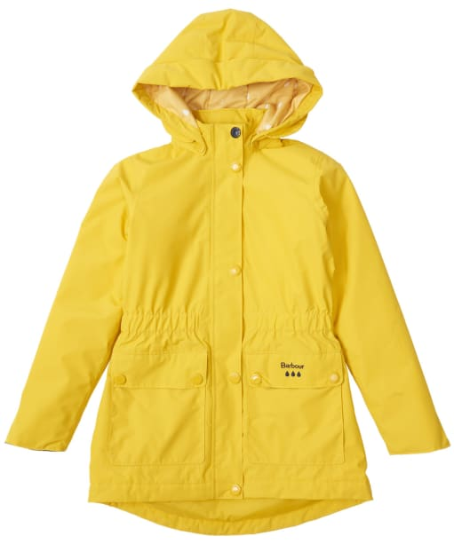 Girl's Barbour Crest Waterproof Breathable Jacket, 10-15yrs - Sulphur Yellow