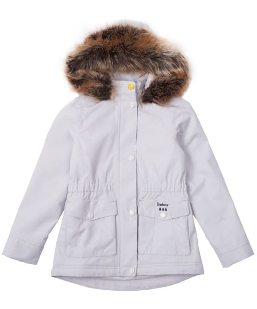 Girl's Barbour Abalone Waterproof Breathable Jacket, 10-15yrs - Ice White