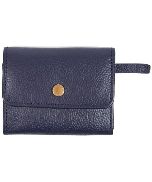 Women's Barbour Leather Billfold Purse - Navy