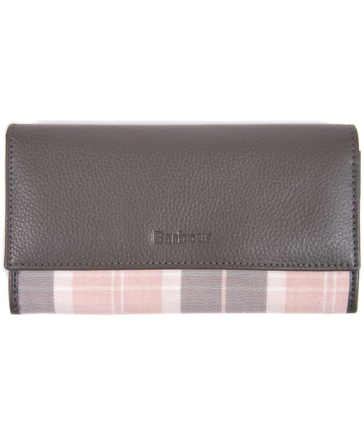 Women's Barbour Convertible Leather Wallet - Grey