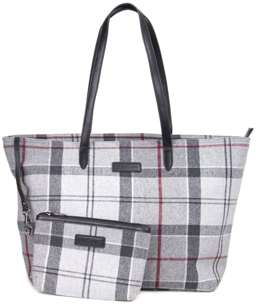 Women's Barbour Witford Tartan Tote Bag - Grey / Juniper