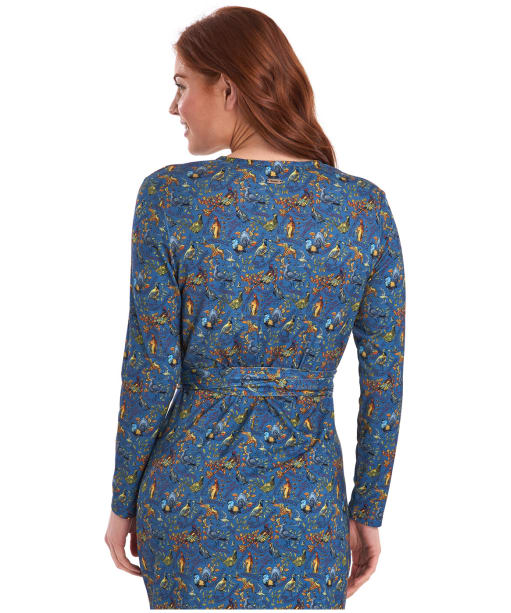 Women's Barbour x Emma Bridgewater Eleanor Dress - Stormy Blue Game Bird Print