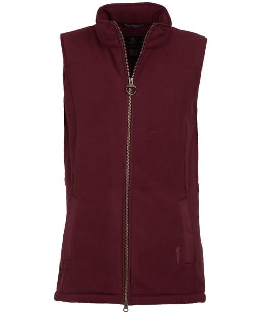 Women's Barbour Dunkeld Fleece Gilet - Bordeaux