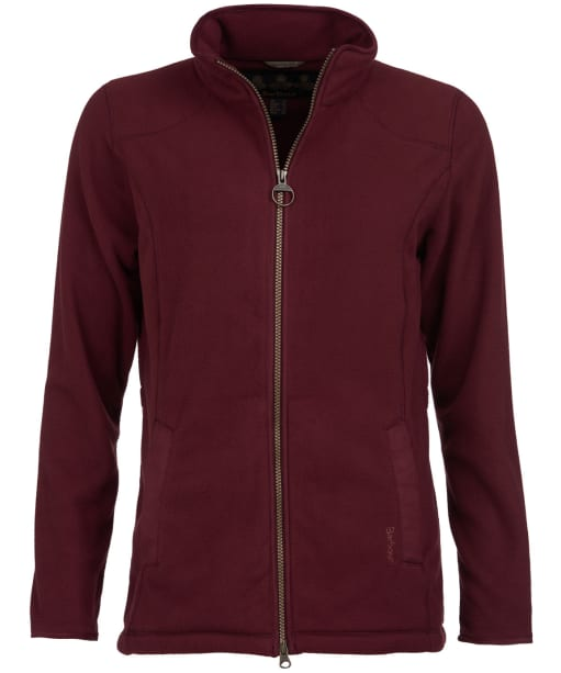 Women's Barbour Stocksfield Fleece Jacket - Bordeaux