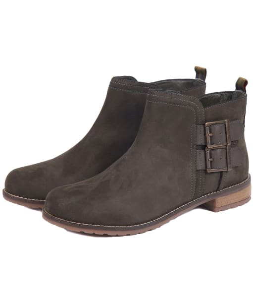 Women's Barbour Sarah Low Buckle Boots - Charcoal