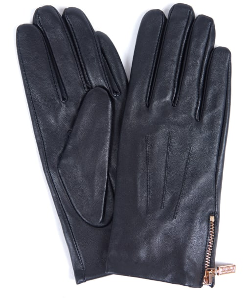 Women's Barbour International Garrow Leather Gloves - Black