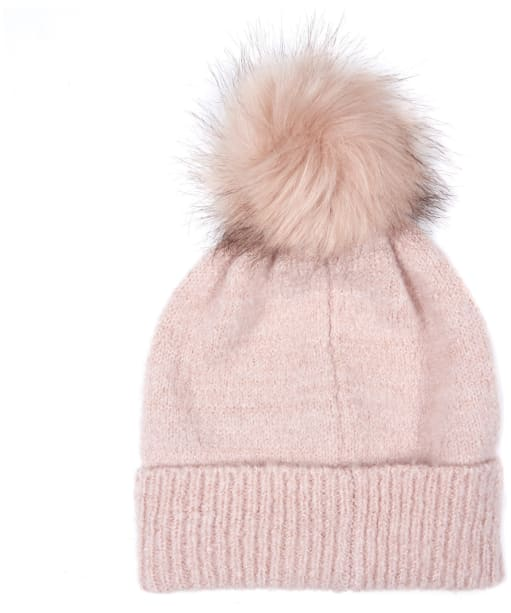 Women's Barbour International Sparkle Knit Beanie - Pink