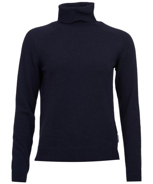 Women's Barbour Pendle Roll Neck Sweater - Navy