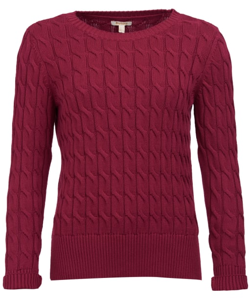 Women's Barbour Lewes Knit Sweater - Deep Pink