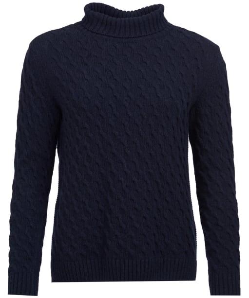 Women's Barbour Burne Knit Sweater - Navy