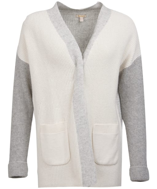 Women's Barbour Dipton Cardigan - Cloud / Grey Marl