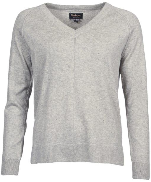 Women's Barbour Lomond Knit Sweater - Pale Grey Marl
