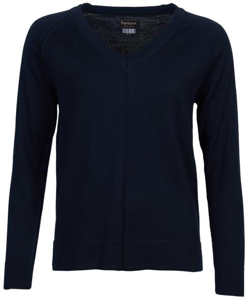 Women's Barbour Lomond Knit Sweater - Navy