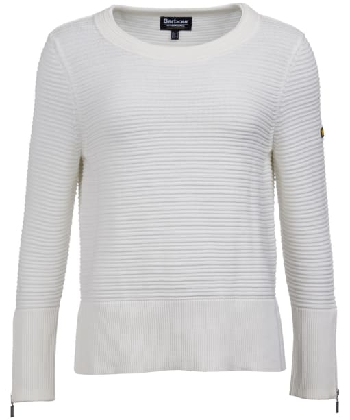 Women's Barbour International Garrow Knit Sweater - Off White